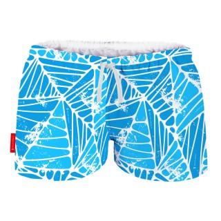 Szorty-kąpielowe-spodenki-LEAFLINE-blue